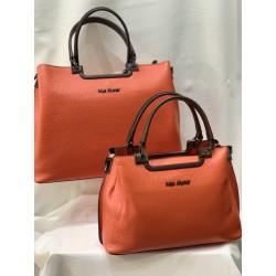 sac porté main orange ( petit et grand modèle)