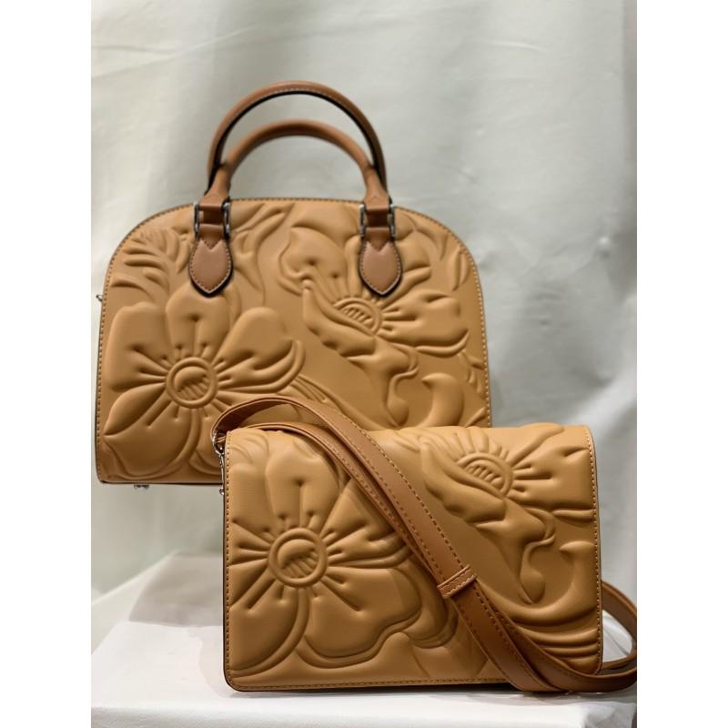 sac porté main et sac porté croisé miel