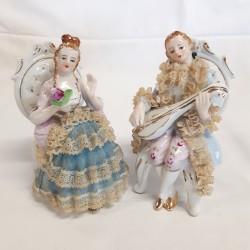 Paire de figurines en Porcelaine allemande