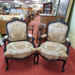 Paire de fauteuils cabriolets Napoléon III