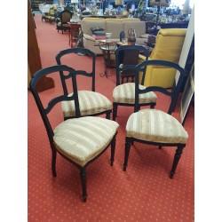 Lot de 4 chaises Napoléon III