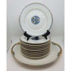 Service a gâteau porcelaine 1900