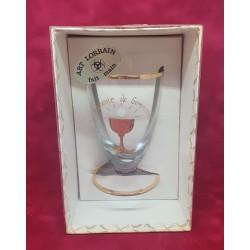 Ancien verre de communion dans sa boîte